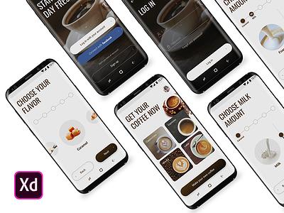 Coffee Making App flow android ux ui freebies freebie machine coffee