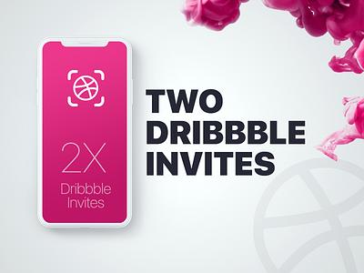 2X Dribbble Invites ink available invitation iphone invites invite dribbble