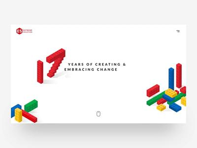 Extreme Solution Website lego css google isometric web website animation ui ux