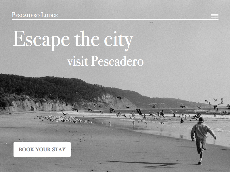 Daily UI 003 landing page daily ui 003 visit hotel travel