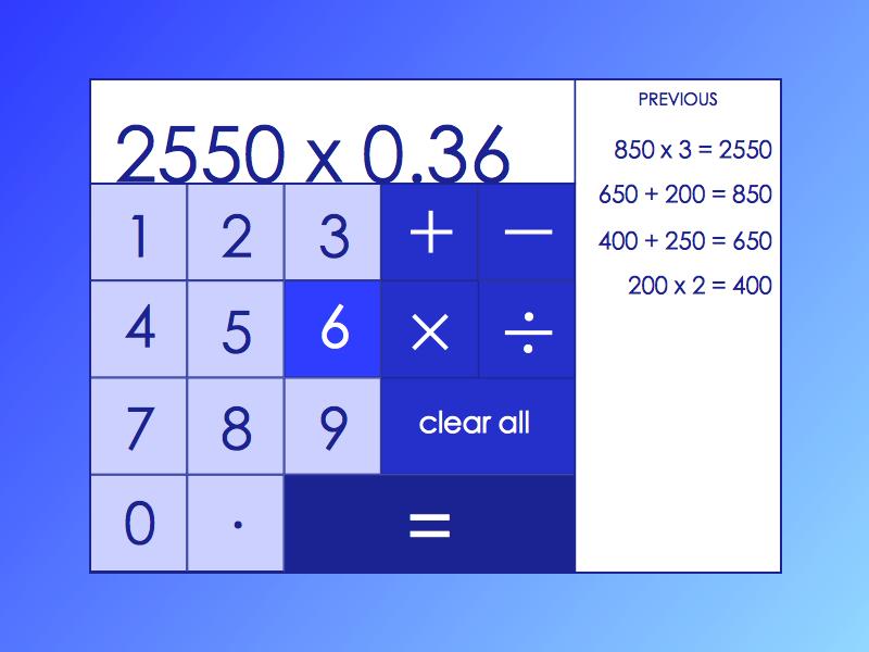 Daily UI 004 daily ui 004 calculator
