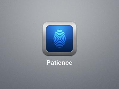 Patience Icon patience app icon iphone retina fingerprint