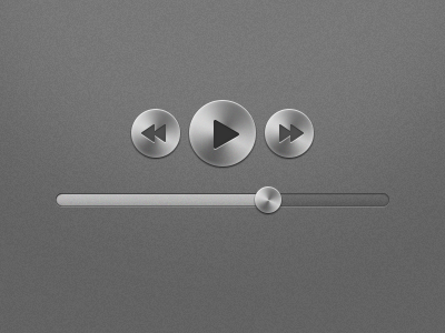 Metal UI Elements metal ui gui media controls slider volume play pause video audio shiny