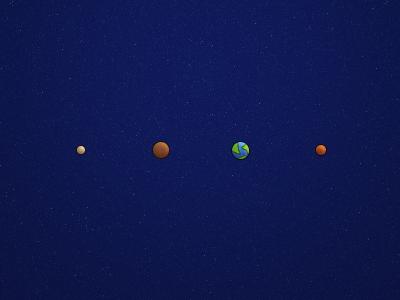 Mercury, Venus, Earth, Mars planets mercury venus earth mars space icons