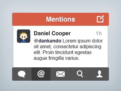 Twitter Simple Style #1 twitter simple ios app iphone ui