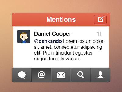 Twitter Simple Style #2 twitter simple ios app iphone ui
