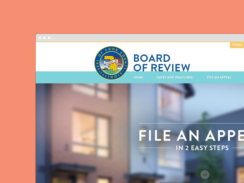 Cook County government web design
