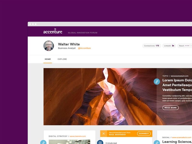 Accenture innovation forum web design