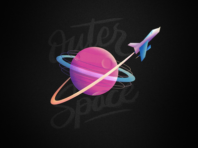Outer Space rocket procreate space ipad illustration