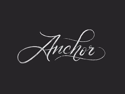 Anchor Script ipadl lettering brush lettering lettering