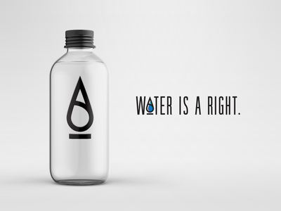 Water Is A Right Branding logo water branding design branding