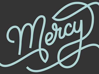 Mercy mercy jesus lettering christian catholic