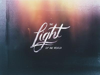 Light of the World caligraphy brushlettering lettering catholic christian light bible