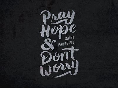 Saint Padre Pio ipad christian catholic procreate lettering quote