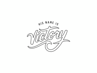 His Name is Victory victory jesus catholic christian typography procreate lettering script