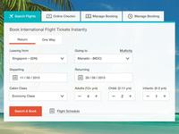 Flight booking filter