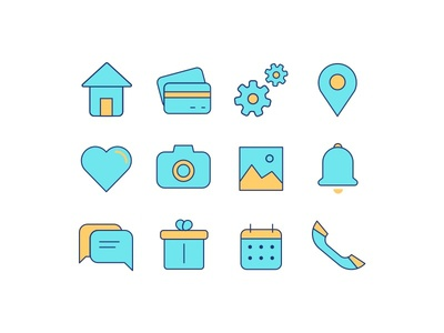 Colorful Icons Set awesome download clean free freebie gui icon icons interface resources ui ux web design
