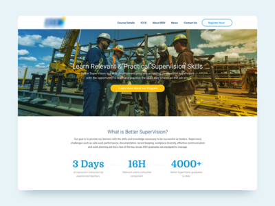 Better SuperVision - Landing Page