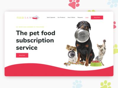 FeedSam - Landing Page