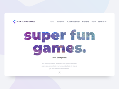 Truly Social Games - Landing Page