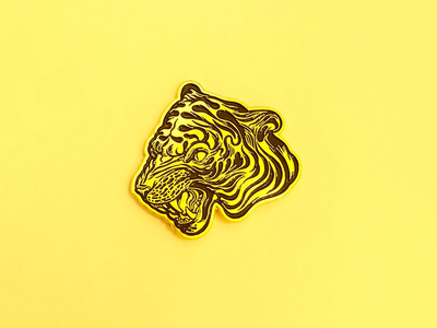Easy Tiger pin lapel pin enamel pin tiger