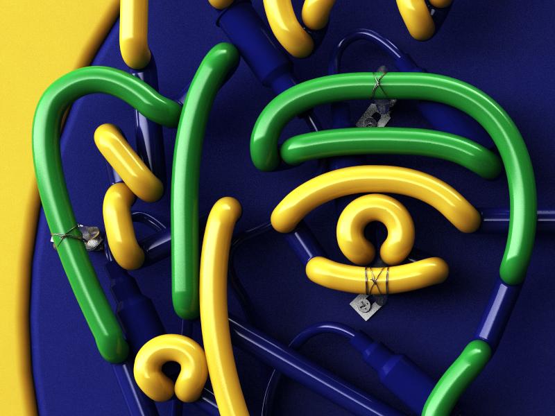 Neymar Neon 3dneon 3d neon neymar vary c4d