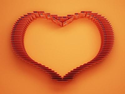 Ing Creditcards heart illustration 3d ing bank