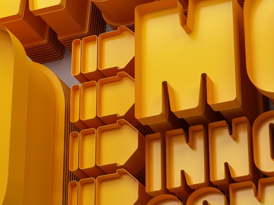 The World's 50 Most Innovative Companies. 3d typography lettering editorial c4d cinema 4d vray