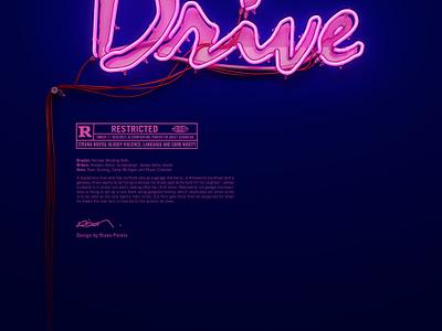 Drive Neon  drive 3d neon typography poster ryan gosling