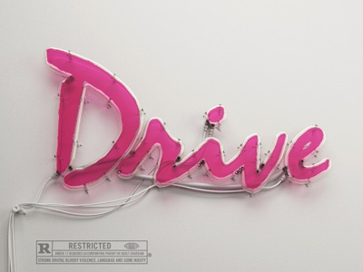 Drive Neon  drive 3d neon typography poster ryan gosling