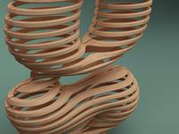 05 3d Typography Digital Wood Rizon Parein Dribble