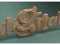 01 3d typography digital wood rizon parein small