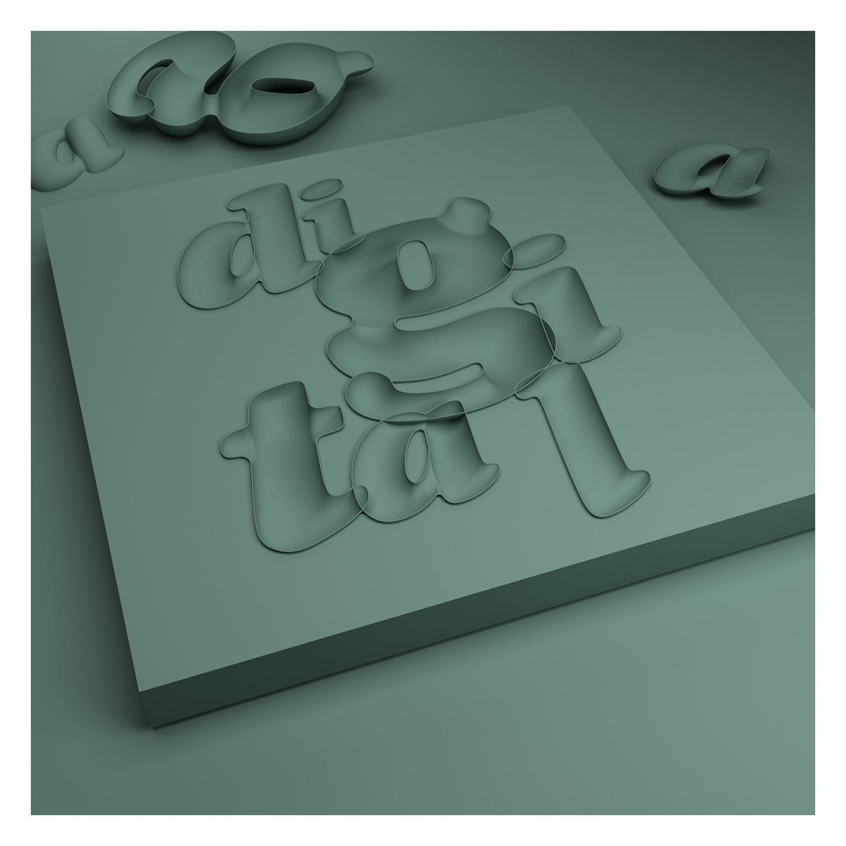 03 3d typography digital wood rizon parein small