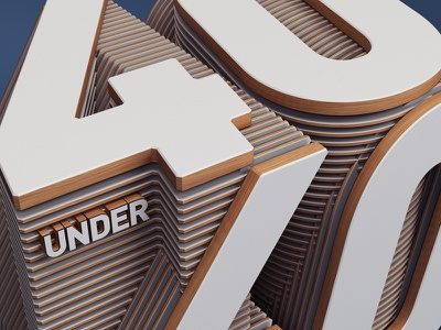 Fortune Magazine Editorial. 40 Under 40. editorial typography design madmen 3d cgi c4d vray text lettering