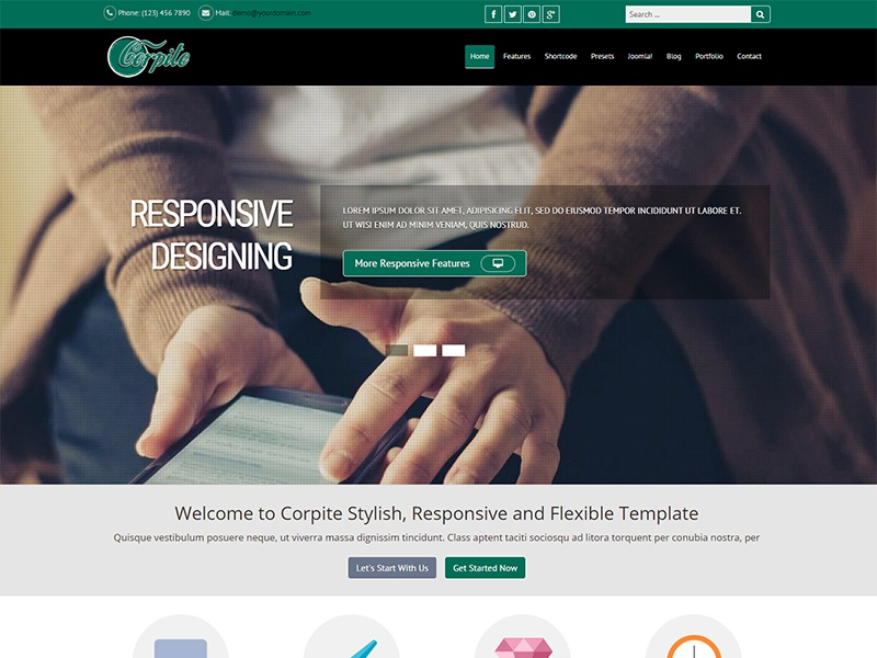 Corpite joomla bootstrap template by pcmshaper dribbble corpite joomla template maxwellsz