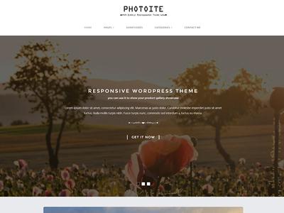 Photoite Blog WordPress Themes