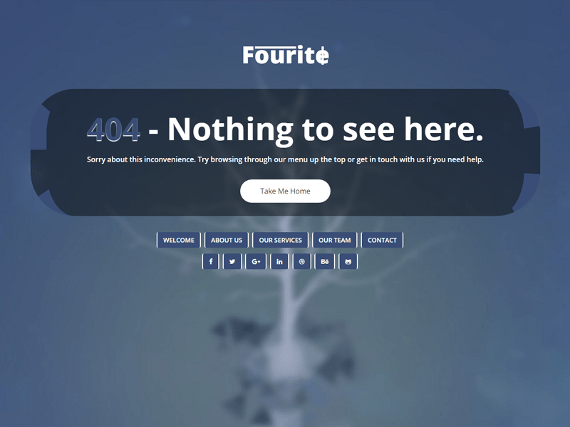 Fourite 404 page bootstrap html template by pcmshaper dribbble fourite 800 600 maxwellsz