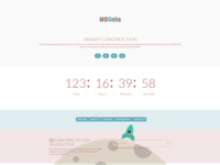 Moonite - Under Construction HTML Bootstrap Template