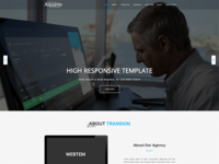 Aquaite - Free One Page Bootstrap Business Template