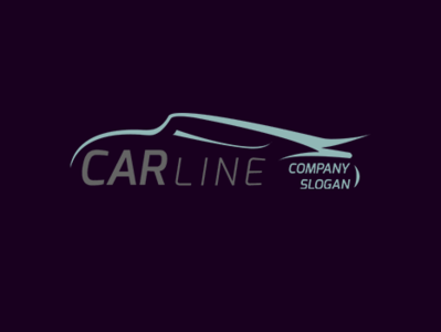 Creative Car Line Logo Template