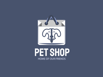 Creative Pet Shop Logo Template brand logo logo templates free logo store logo shop logo dog face logo dog logo pet logo photoshop psd design web design branding psd vector logo