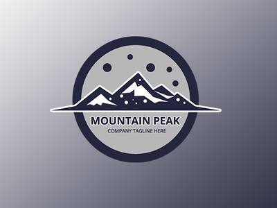 Mountaite - Mountain Free Logo Template free logo health landscape logo mountain extreme psd star tree brand blue adventure rock meditation snow travel vacation triangle resort