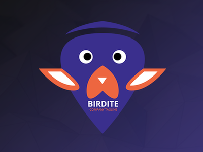 Birdite - Bird Head Logo Template web ui design free app blue and white orange blue psd designs birds logo bird logo vector bird icon logo bird logo png bird logo eagle logo logo design logo 3d free logo logo templates logo