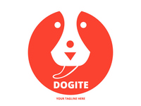 Dog Face Vector Logo Template