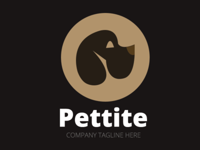 Dog Pet Vector Logo Template