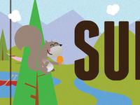 Summer Readers Squirrel