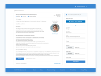 Recruitment website – Job details & Job board pages