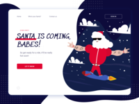 Christmas Party Santa – Web Concept & Illustration