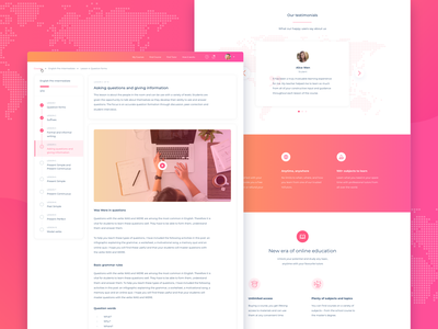 Online Education Platform Design Concept ui ux clean minimal sketch uxdesign flat ui  ux design ux cards typography online courses online education education learning tutoring video landing page concept landing page gradient lessons