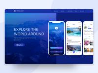 Travel App Landing Page Concept